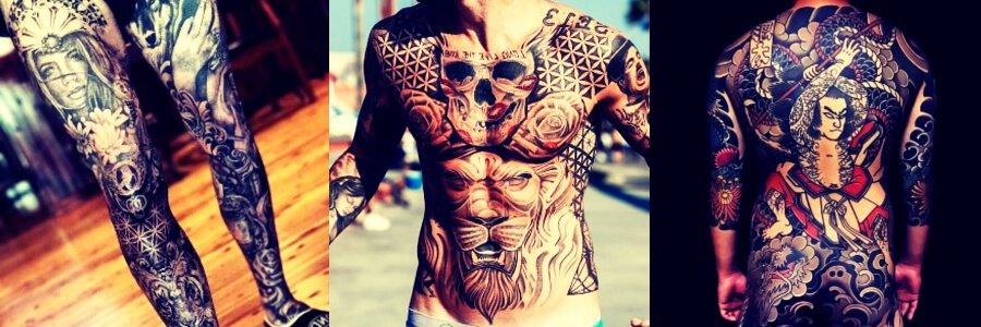 Tatuajes para hombres en el brazo, el antebrazo, la pierna, el hombro,en la espalda y el pecho