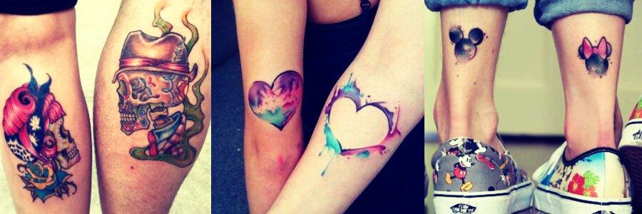 Tatuajes para parejas, hermanos y amigos.