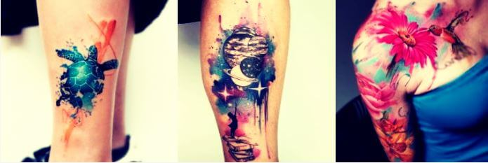 tatuajes acuarela
