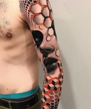 tatuaje 3D brazo