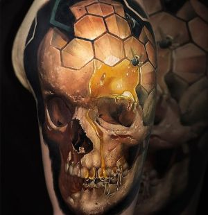 tatuaje 3D calavera
