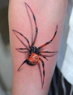tatuaje 3D de araña
