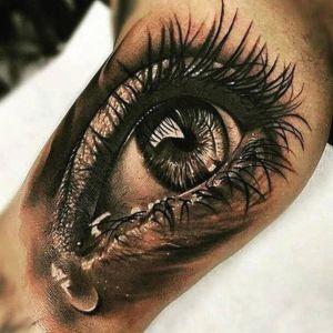 tatuaje 3D ojo