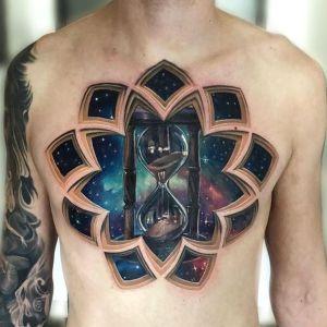 tatuaje 3D pecho