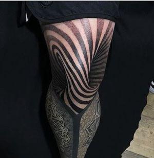 tatuaje 3D rodilla
