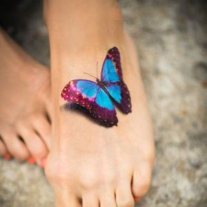 tatuaje de mariposa 3D
