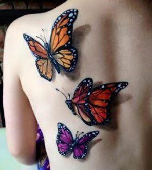 tatuaje de mariposas 3D