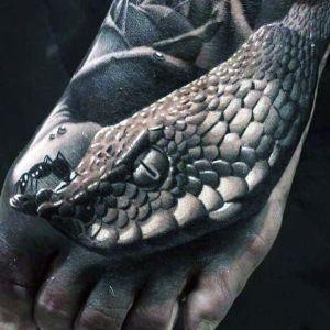 tatuaje de serpiente 3D