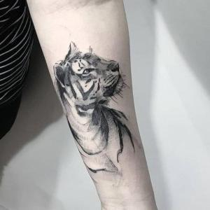 tatuajes bonitos de tigres