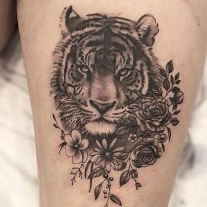 tatuajes lindos de tigres