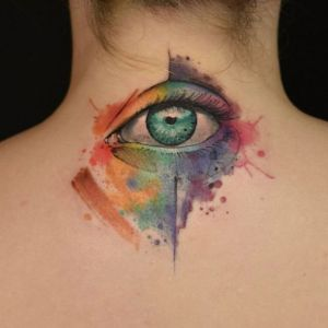 tatuaje acuarela ojo
