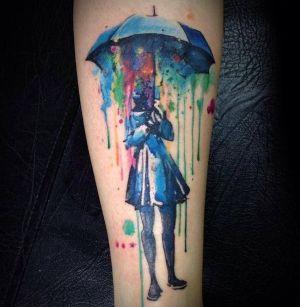 tatuaje de acuarela increible