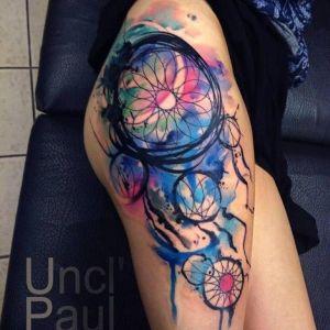tatuajes chidos acuarela