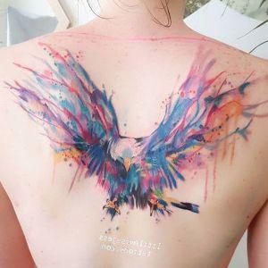 tatuaje acuarela de aguila