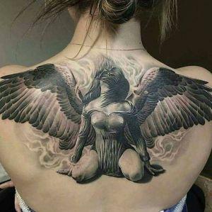 tatuaje de angel para mujer