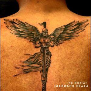 tatuaje de angel protector