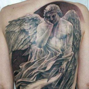 tatuaje para hombre de angel