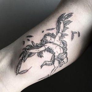 tatuajes de angeles para hombres y mujeres