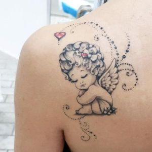 tatuajes hermosos de angeles