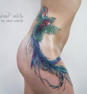 tattoo ave fenix mujer