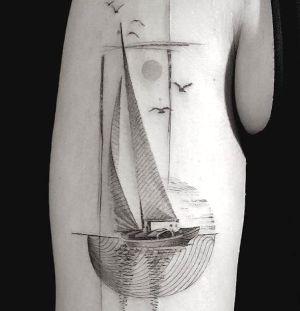 tatuaje de barco velero