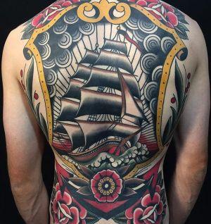 tatuajes barcos old school