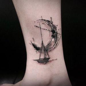 tatuajes bosquejo de barcos