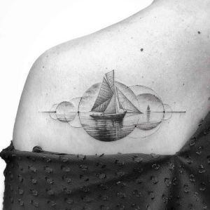 tatuajes finos de barcos