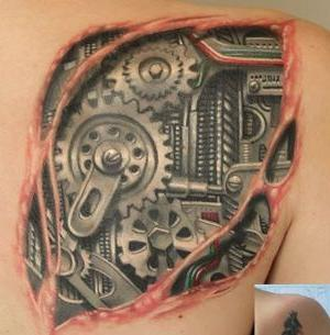 tattoo para mujer biomecanico