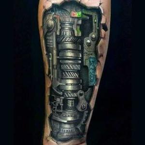 tatuaje para hombre biomecanico