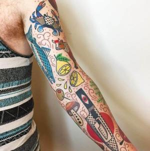 tatuajes en el brazo old school