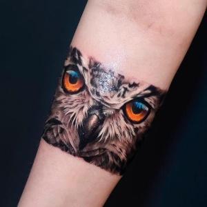 diseño de tatuaje de buho