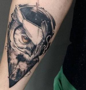 imagen de tatuaje de buhos