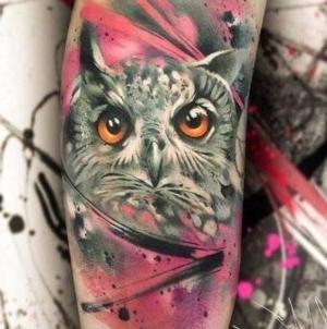 tatuaje de buhos