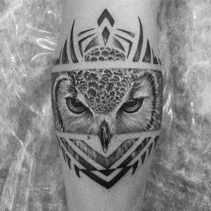 tatuaje original de buho