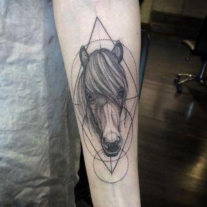 diseño de tatuaje de caballo