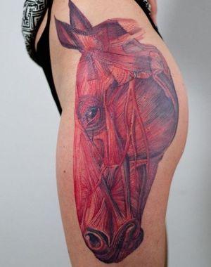 tatuaje original de caballo