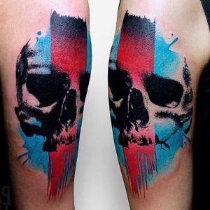 tattoo para hombre de calavera