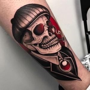 tatuaje para hombres de calavera