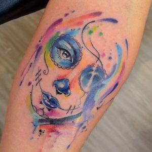 tatuaje de catrina de javi wolf