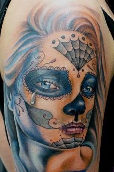 tatuaje de catrina para chica