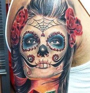 tatuaje de catrina para chicos