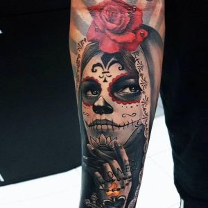 tatuaje original de catrina
