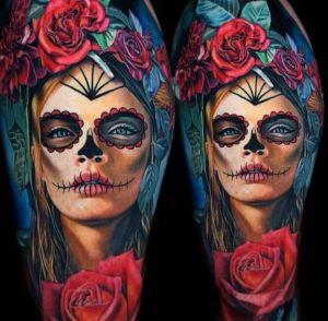 tatuajes bonitos de catrinas