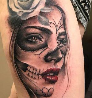 tatuajes de catrina para mujeres