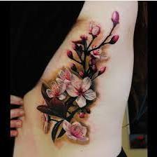 flores de cerezo tatuadas