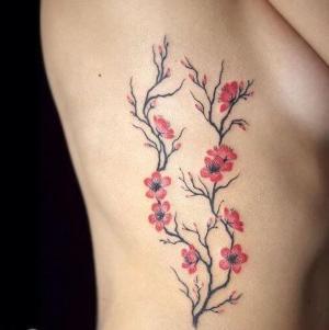 tatu de flor de cerezo