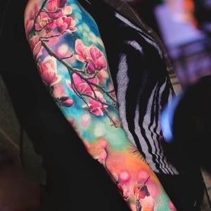 tatuajes originales de flores de cerezo