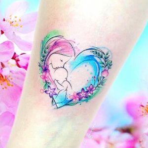 tatuaje de amor acuarela