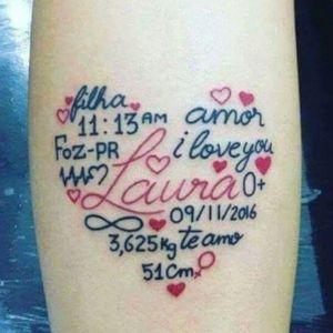 tatuaje de amor para hija